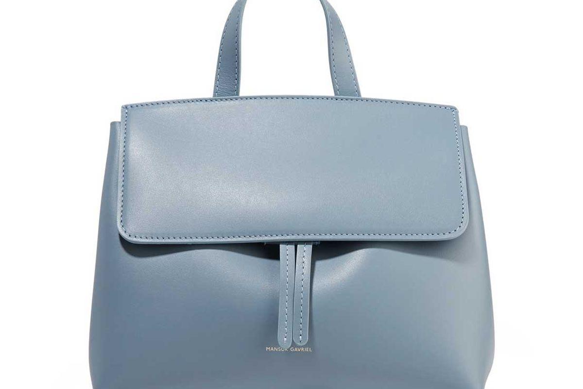 mansur gavriel mini mini lady leather tote