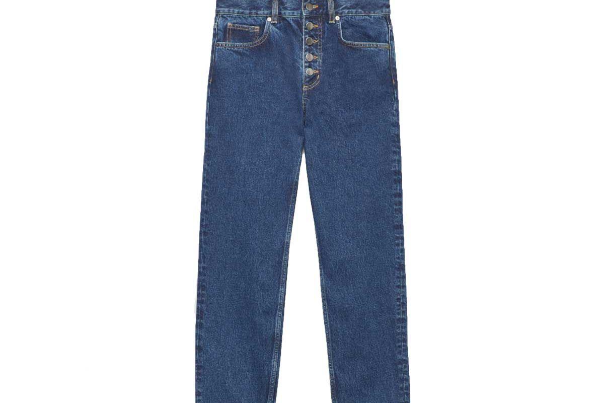cosstores 28 inch button up slim crop jeans shop