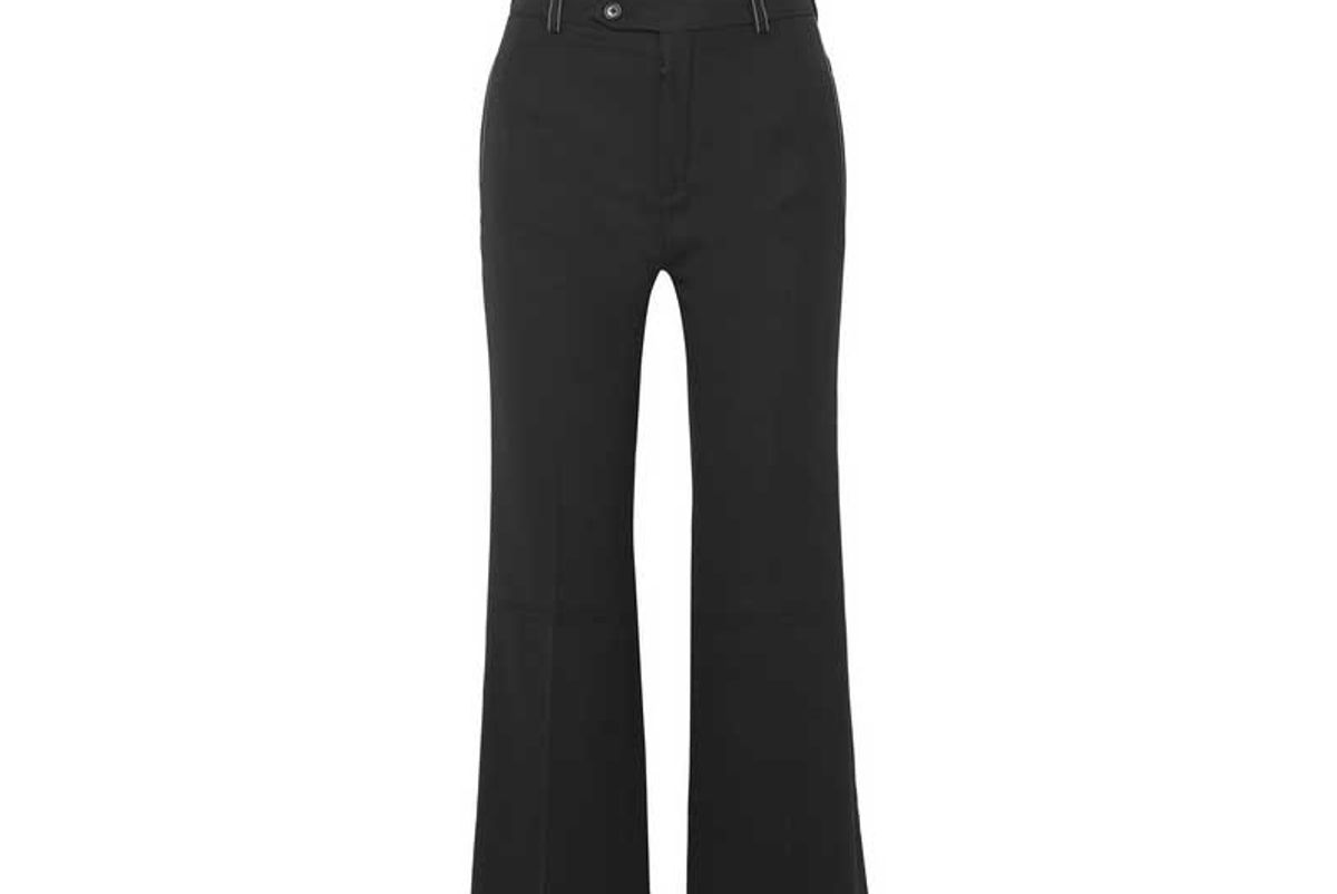 cropped twill flared pants shop