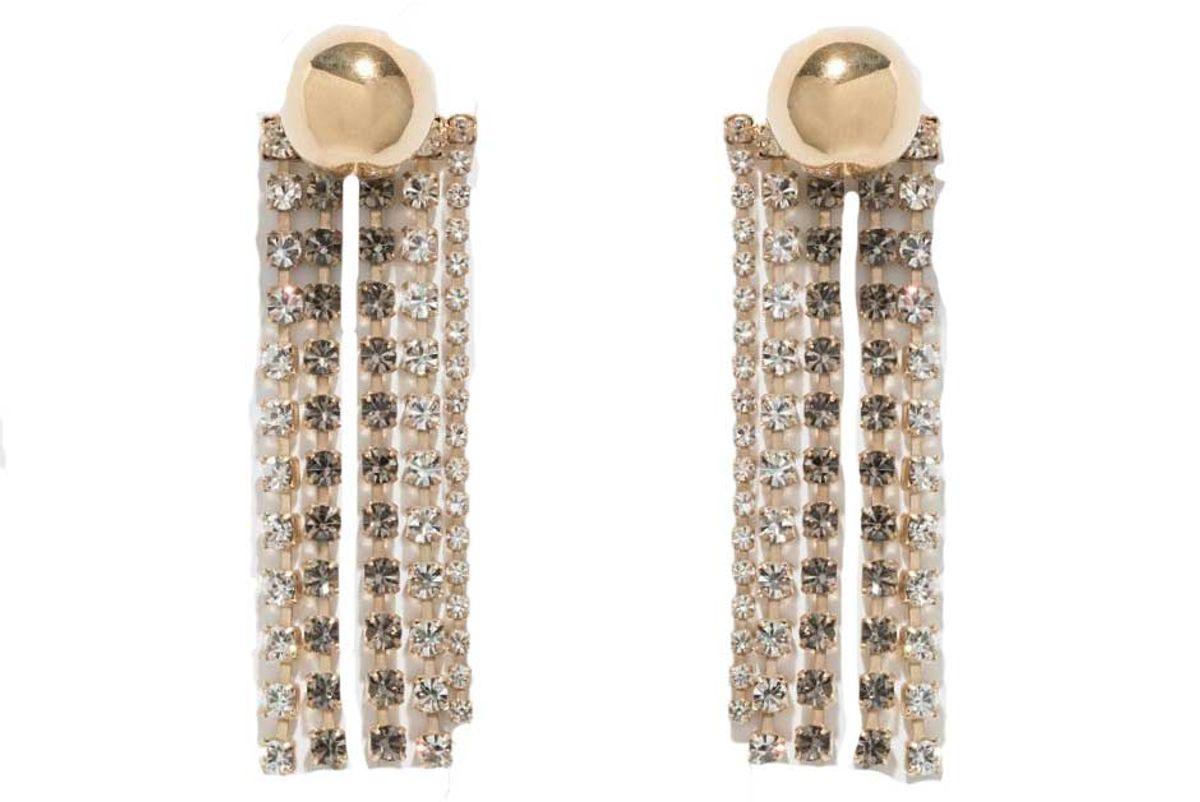 beaufille cobalt fringe earrings