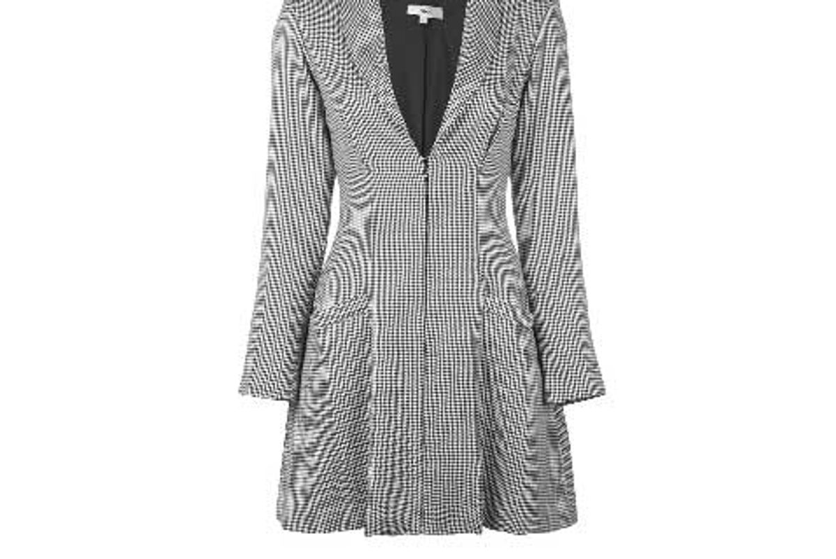miaou checked blazer dress