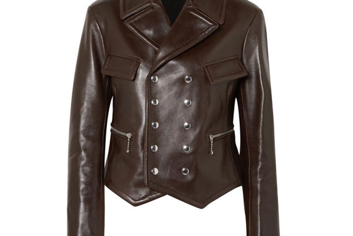 chloe double breasted leather biker jacket