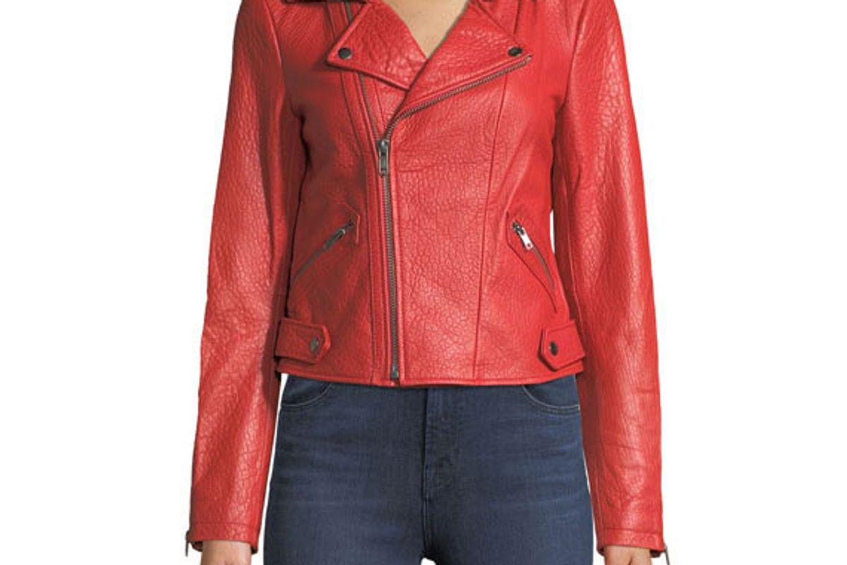 rebecca minkoff wolf zip front leather moto jacket
