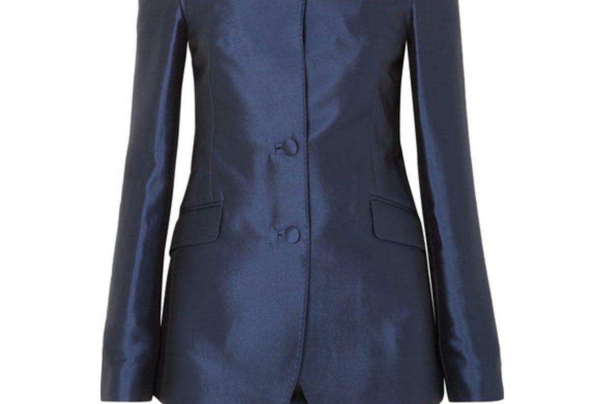 gabriela hearst dorothea off the shoulder silk and wool blend blazer