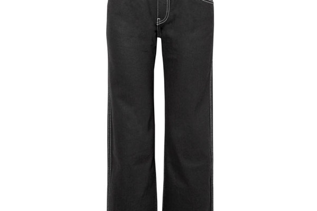 khaite wendell cropped mid rise wide leg jeans