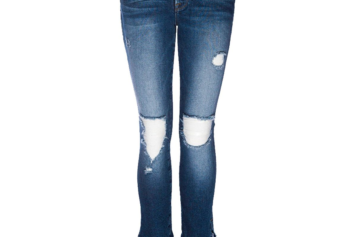 Le Skinny De Jeanne Feather Hem Jeans