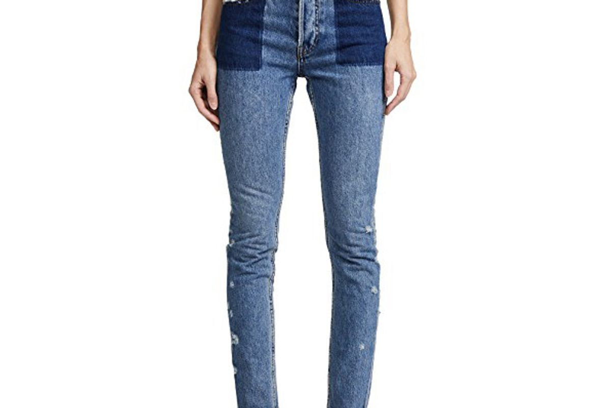 Amx Jeans with Reverse Tone Pockets