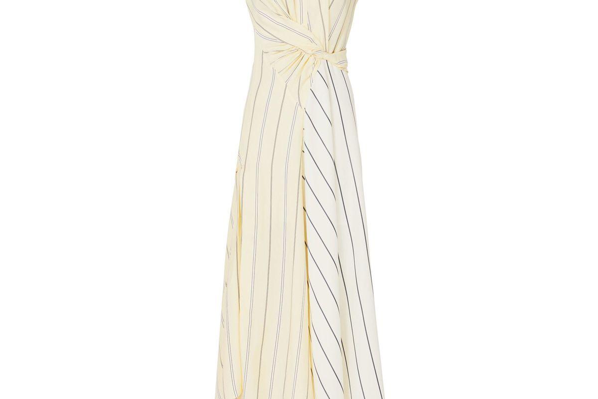 Stripe Twisted Waist Maxi Dress