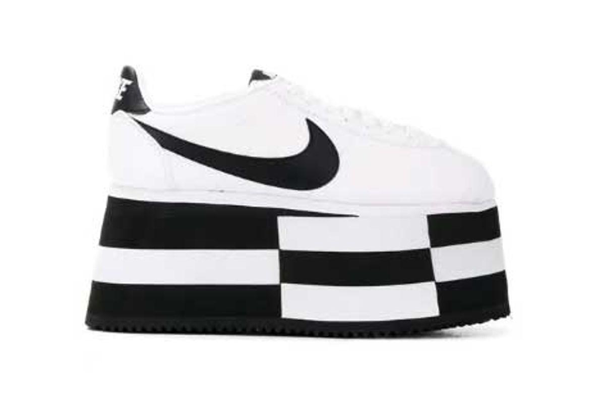 comme des garcons check platform cortez sneaker