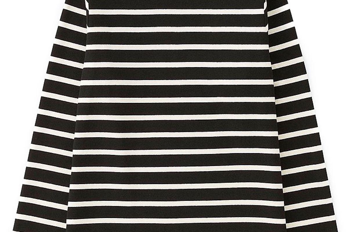 Women Striped Boat Neck Long-Sleeve T-Shirt