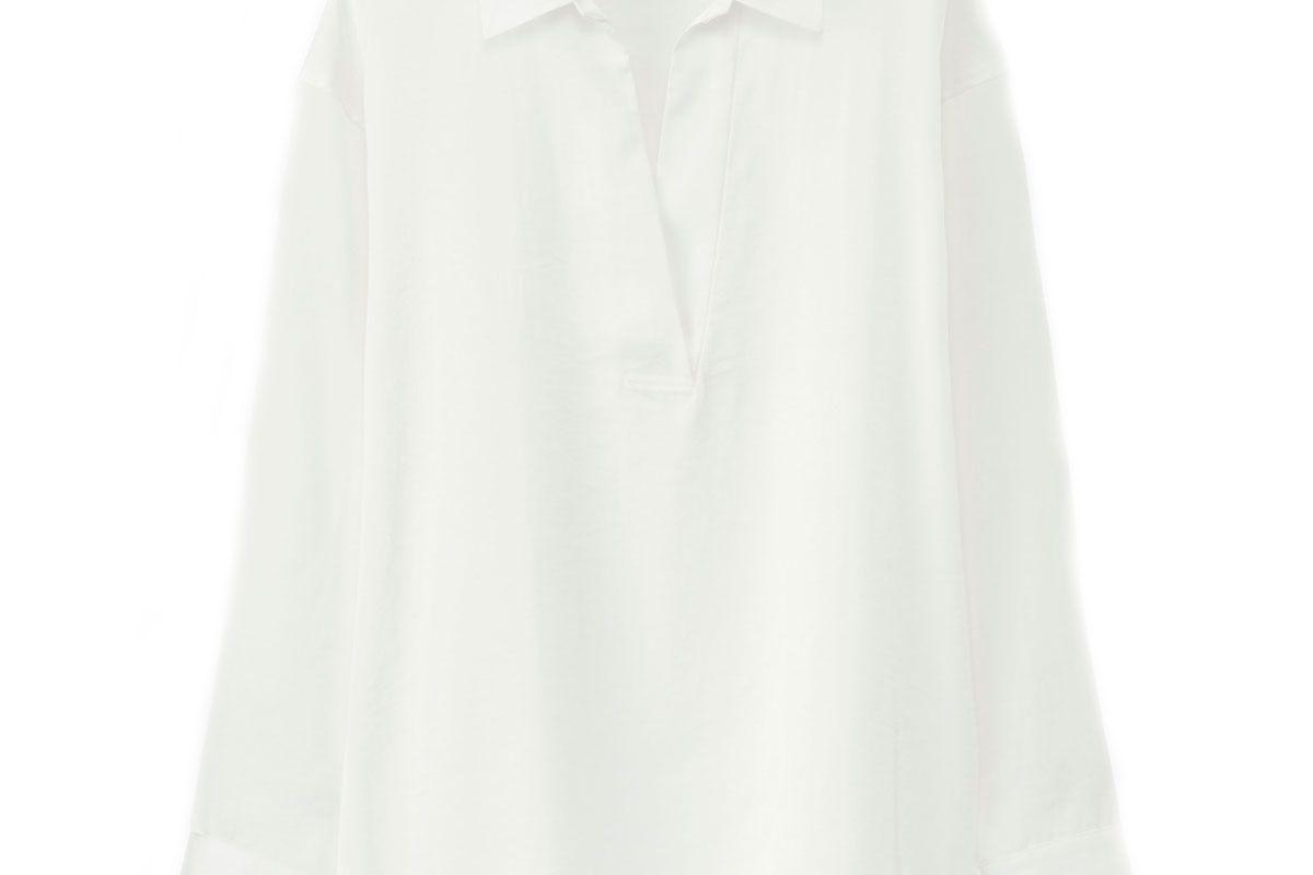 Women Satin Long-Sleeve Blouse