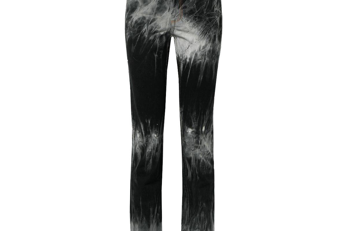 matthew adams dolan tie dye high rise slim leg jeans