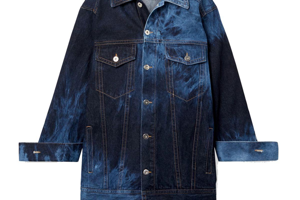 matthew adams dolan oversized tie dyed denim jacket