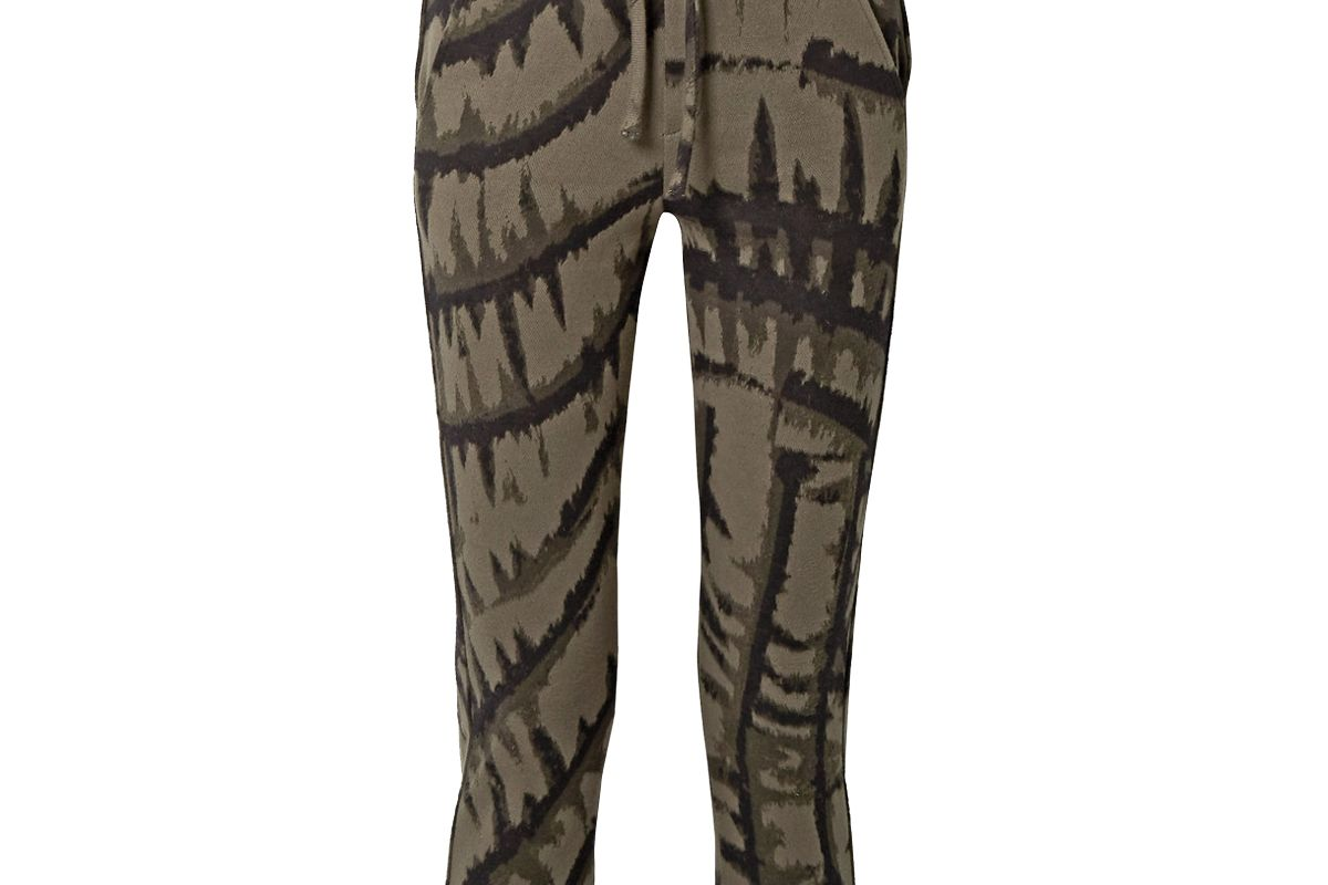 twenty montreal hyper reality cropped tie-dyed cotton blend jacquard track pants