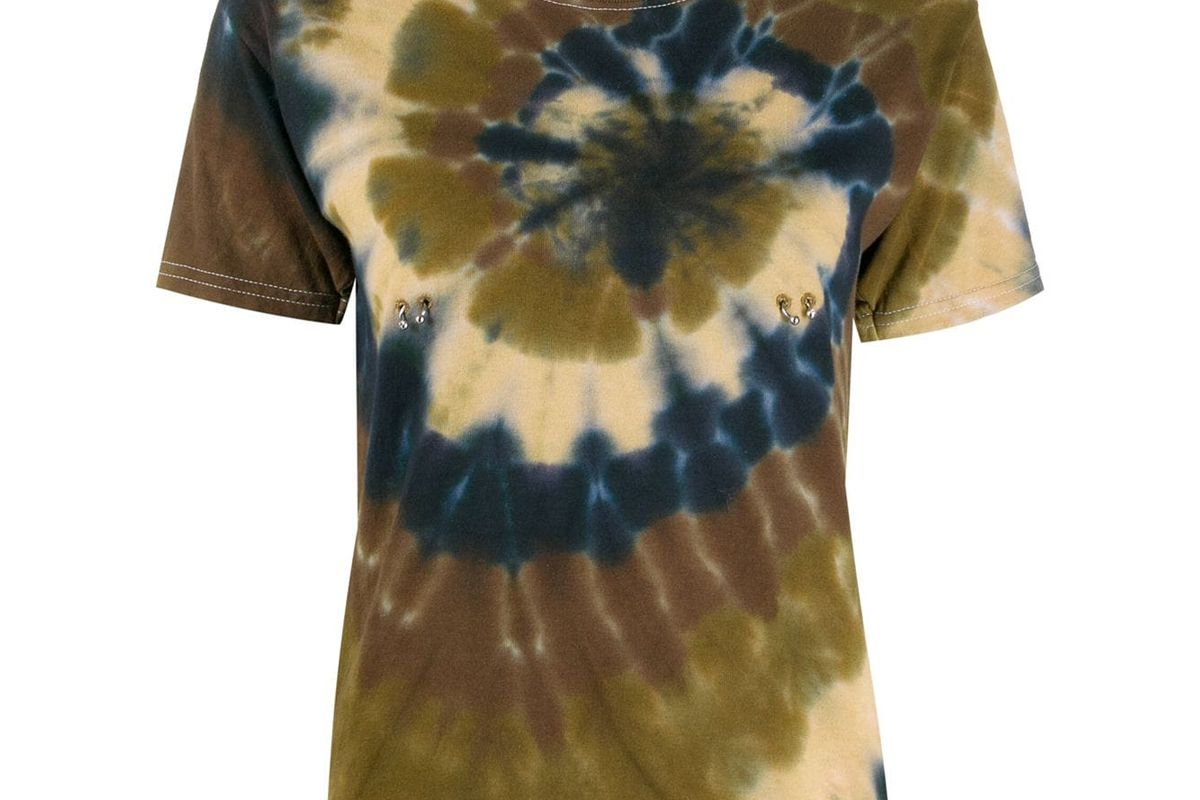 colina strada short sleeved tie dye t shirt