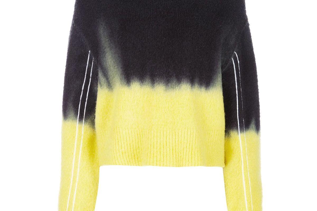 proenza schouler pswl dip dye crewneck sweater