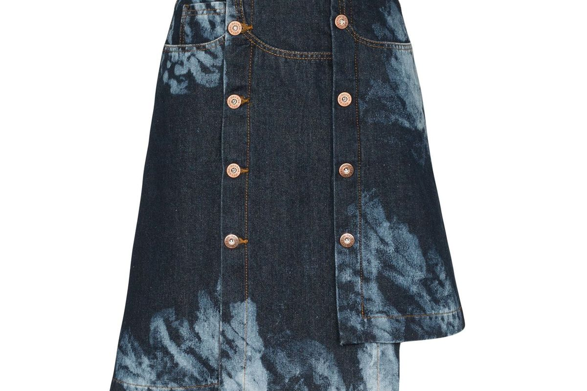 delada asymmetric tie dye skirt