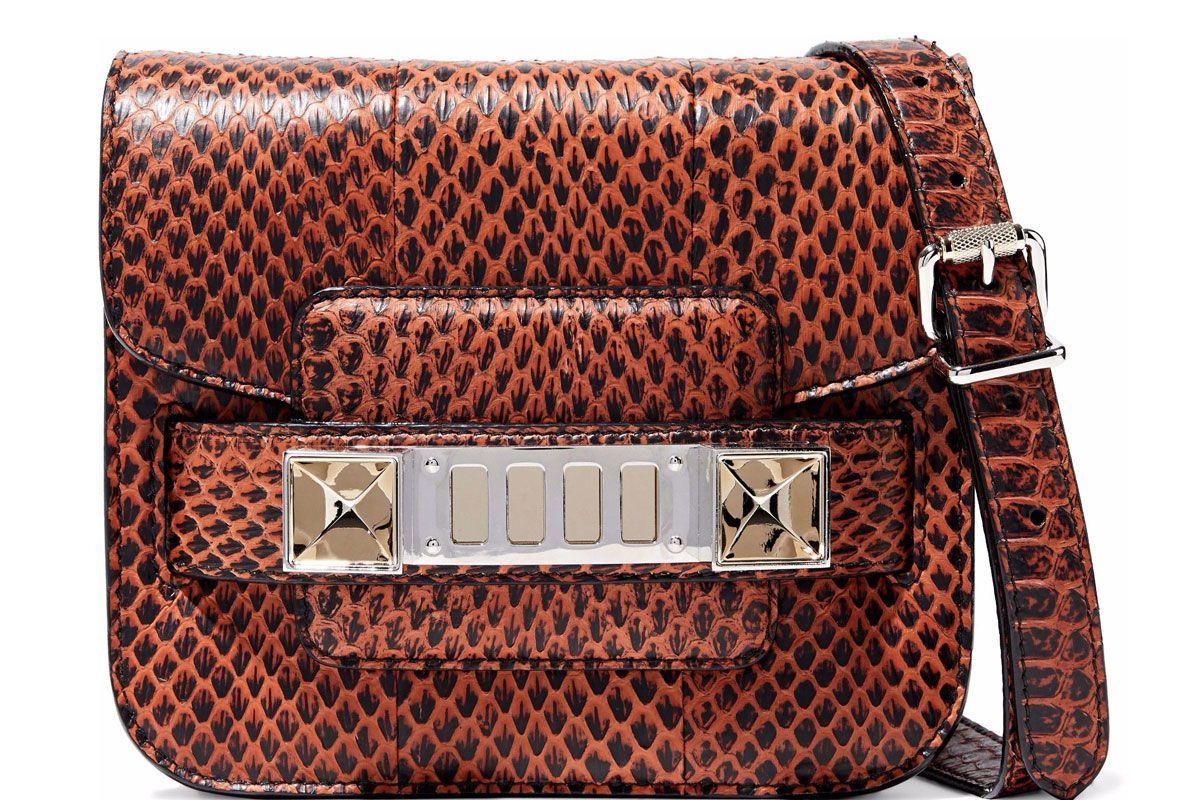 proenza schouler ps11 tiny snake effect leather shoulder bag