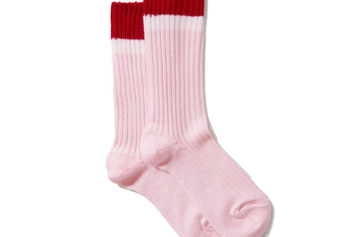 maria la rosa cross fit striped ribbed merino wool blend socks