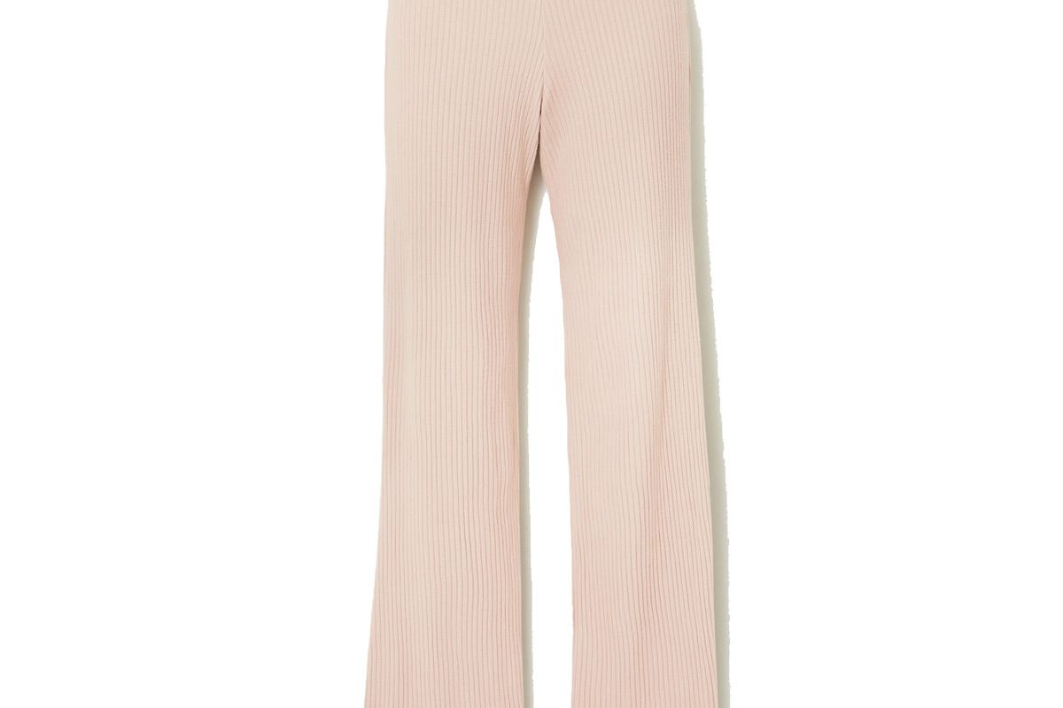 leset alison ribbed stretch jersey pants