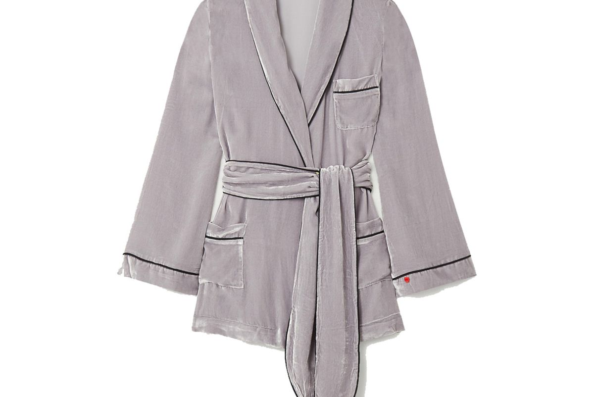 sleeping with jacques the bon viviant belted piped velvet robe