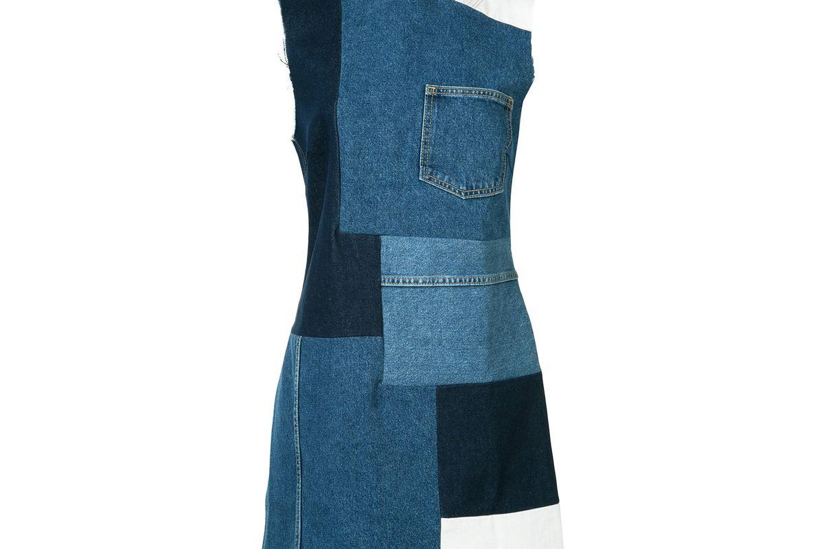 Patched Mini Denim Dress