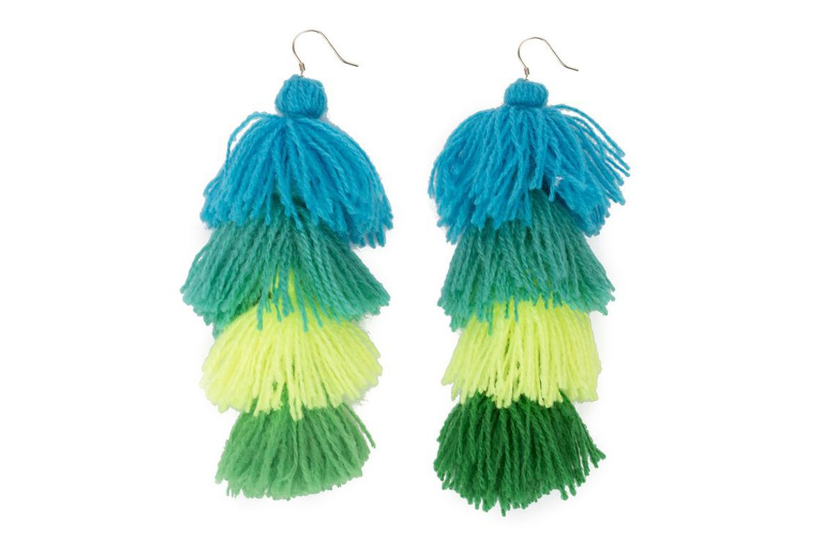 Turqs and Caicos Ombre Tassle Earrings