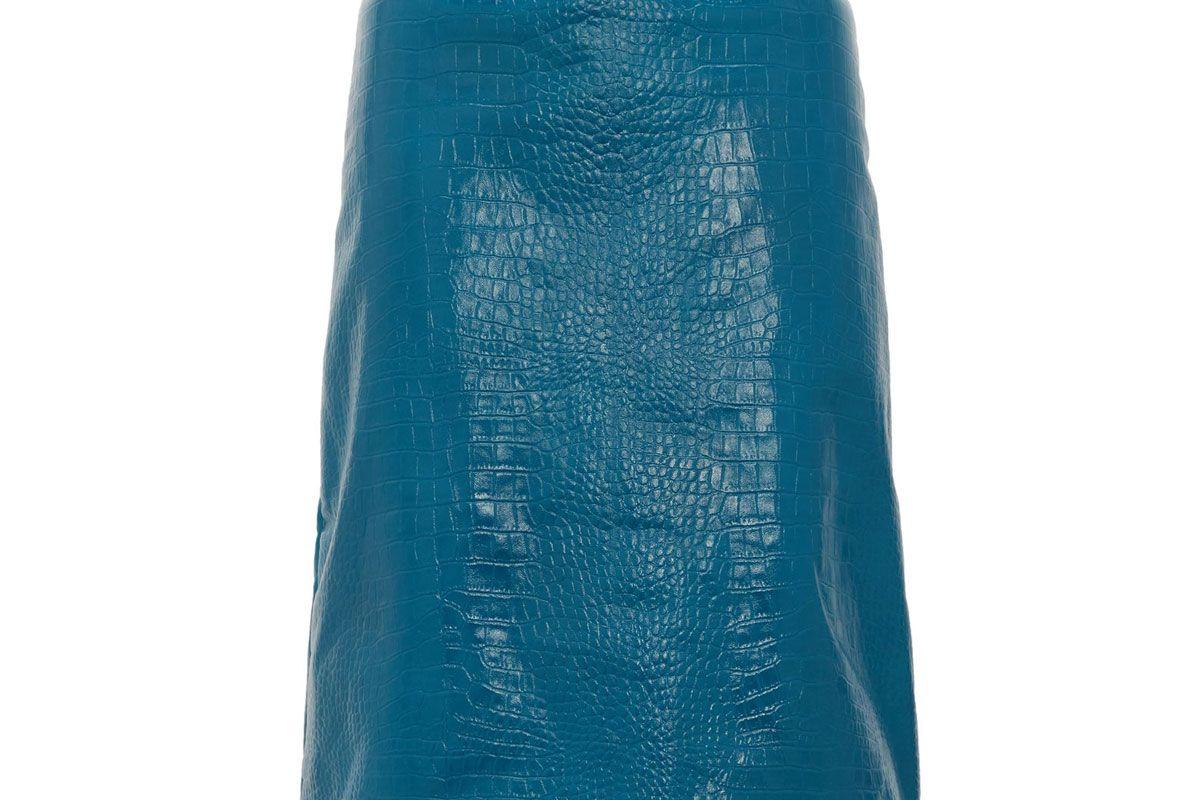 dodo bar or lolitta crocodile effect leather skirt