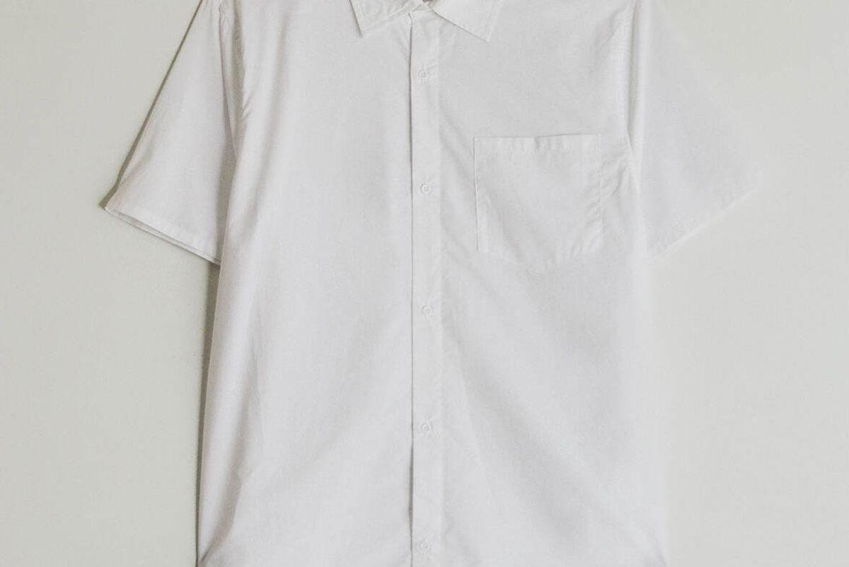 need tai spread collar button Up in white