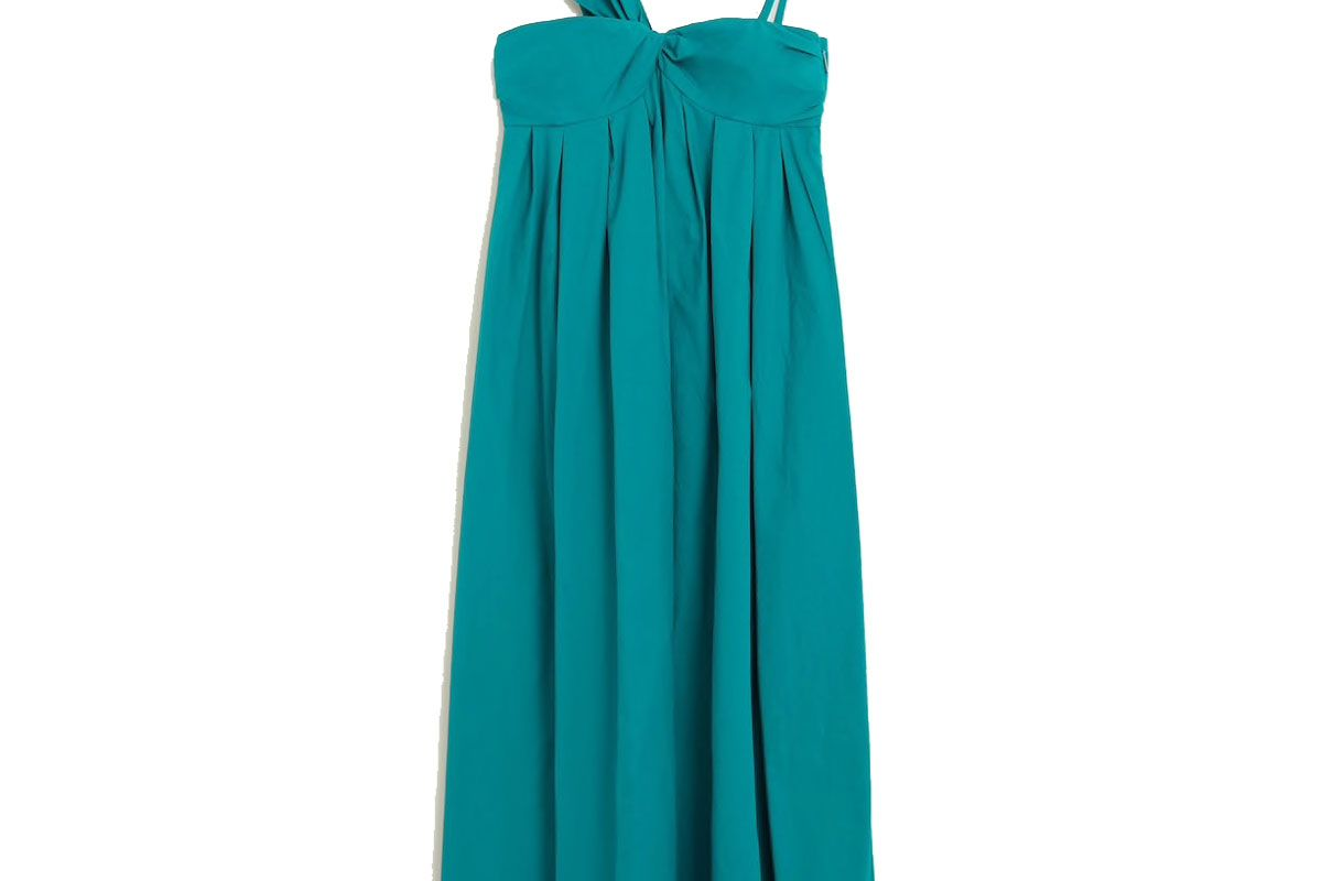 mango asymmetric poplin dress