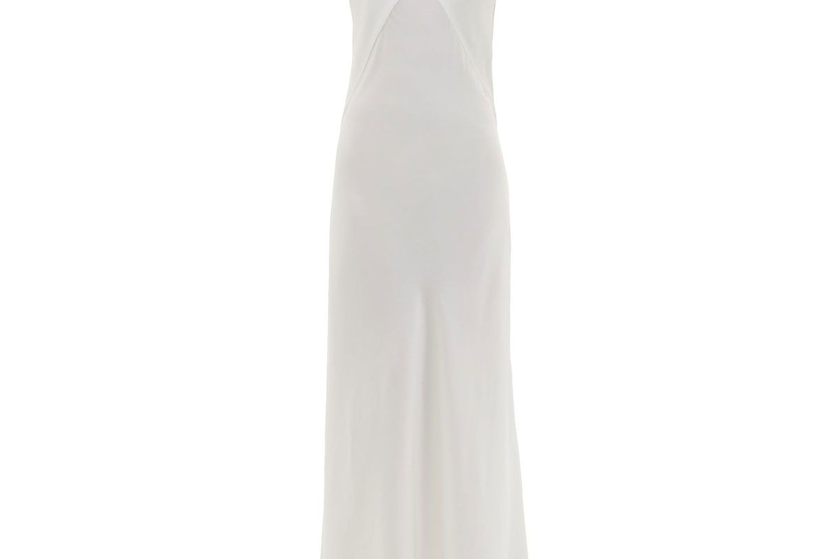 asceno bordeaux silk satin slip dress