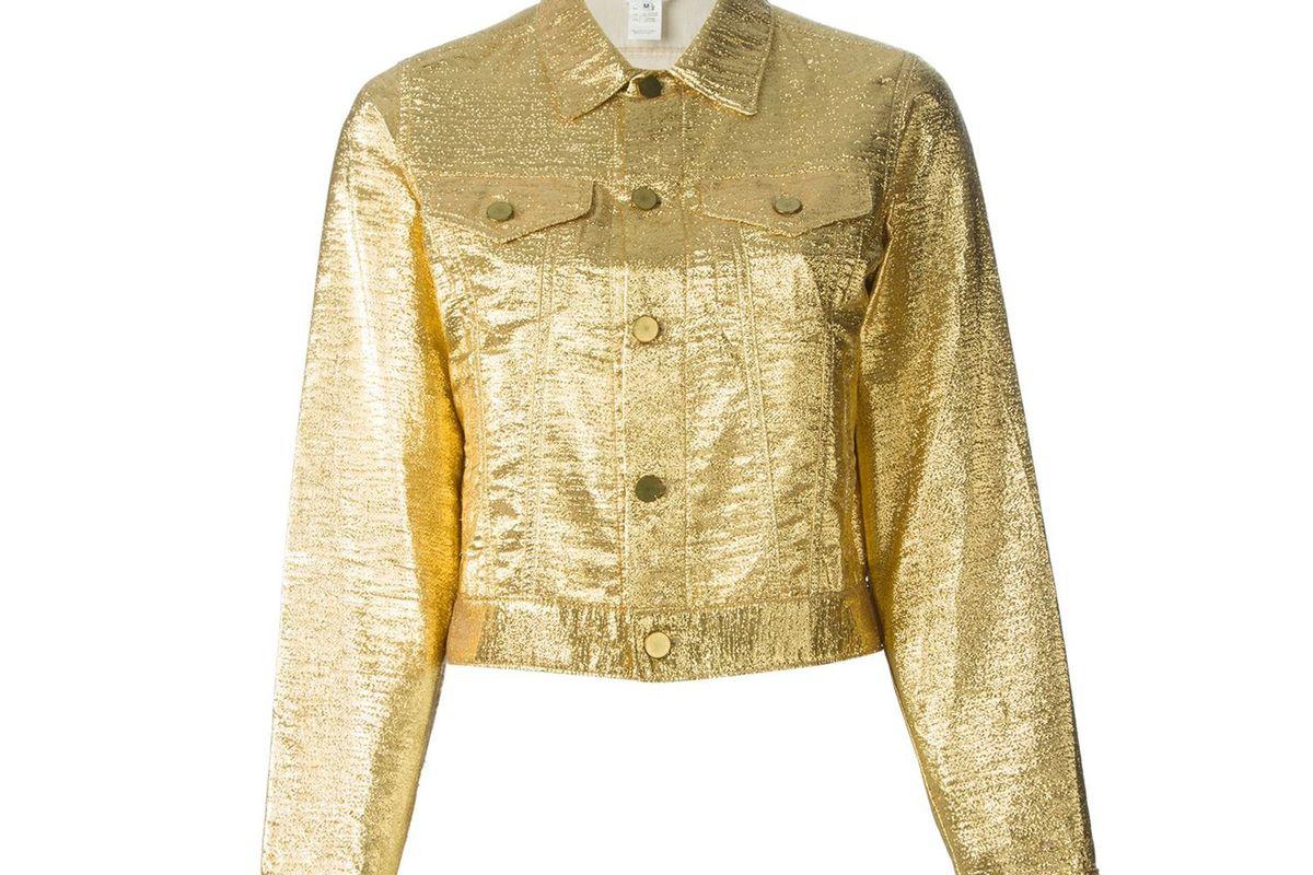Metallic Denim Jacket