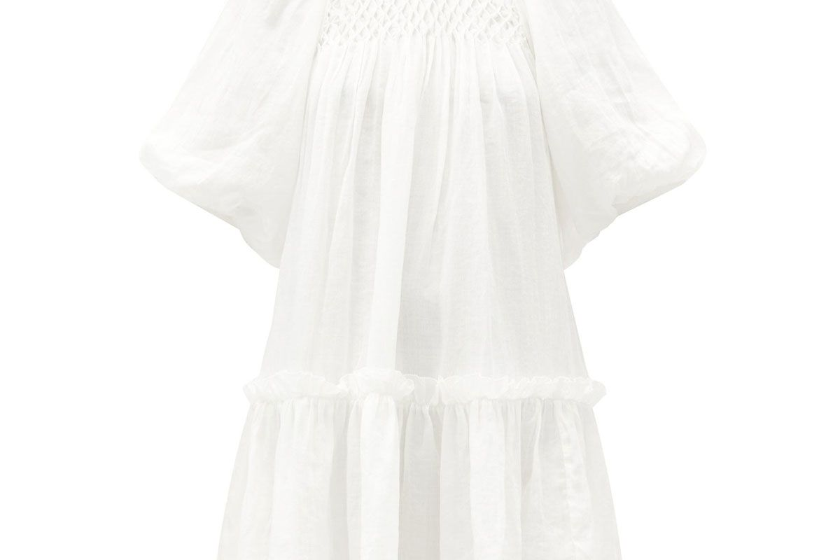 sea geneva smocked cotton dress