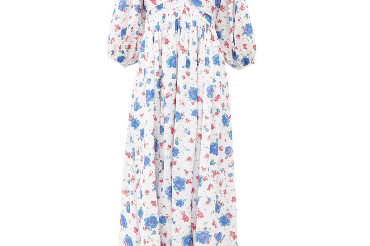 loveshackfancy roslyn balloon sleeve floral print cotton dress