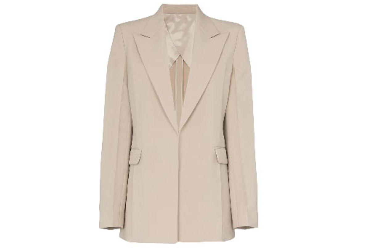helmut lang peak lapel single breasted blazer