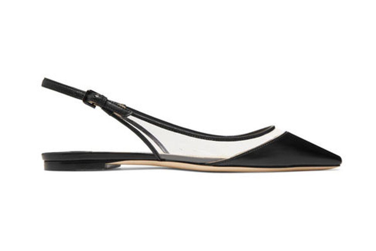 jimmy choo erin pvc and leather slingback point toe flats shop