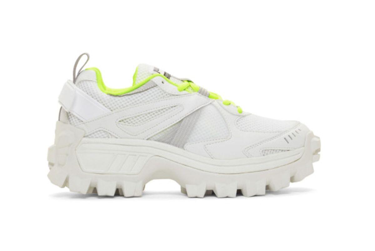 juunj white and green volume 3 sneakers