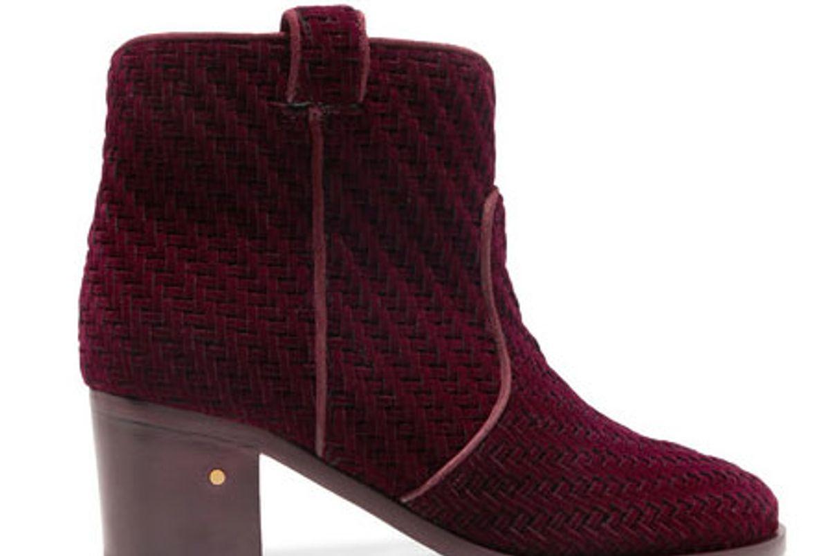 Mikki Herringbone Velvet Ankle Boots