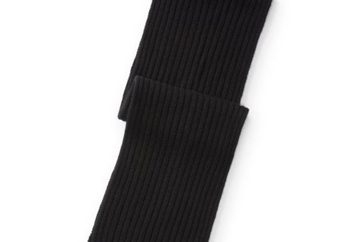 Wide-Rib Cashmere-Wool Scarf