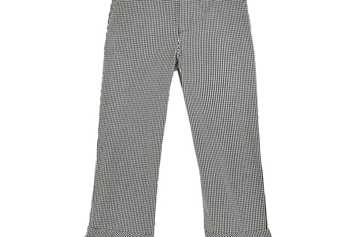 Gingham Trousers with Pompoms