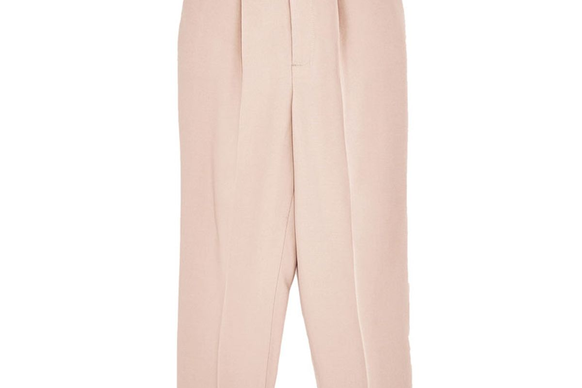 Cropped Trousers with Stretch Waist