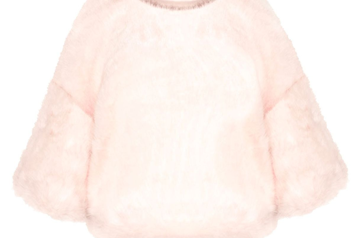 Faux Fur Chunky Pale Pink Top