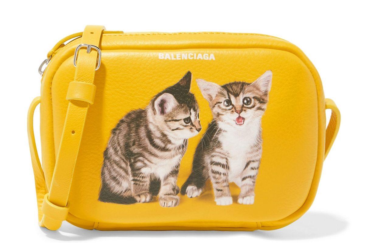 balenciaga everyday xs aj printed textured leather camera bag
