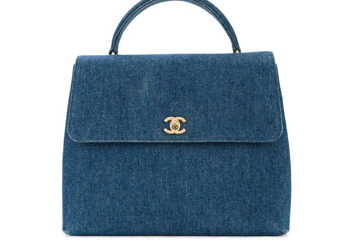 Denim Flap Bag