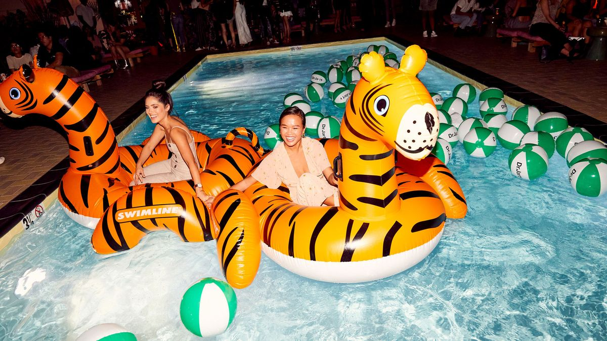 Turns Out Dr. Jart+ & Inflatable Tigers Are the Key to a Great Party
