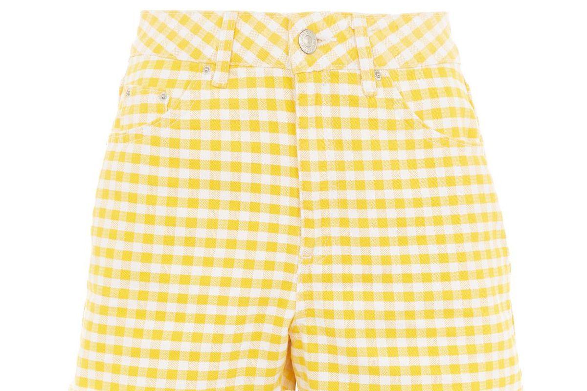 Moto Gingham Mom Shorts
