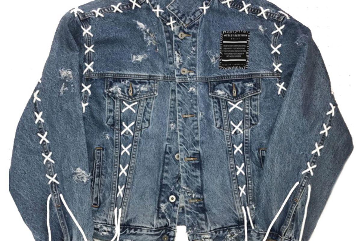 Reworked Laced Denim Jacket