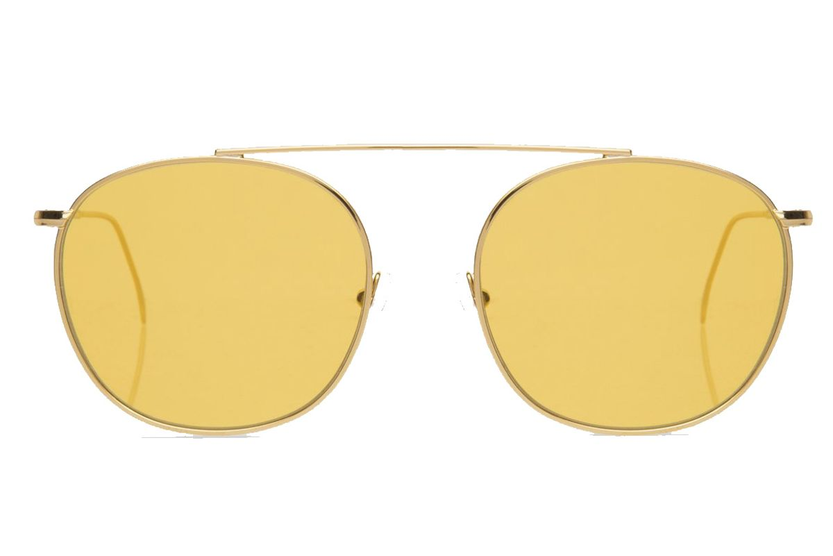 Mykonos II Sunglasses Gold with Honey See Through Lenses