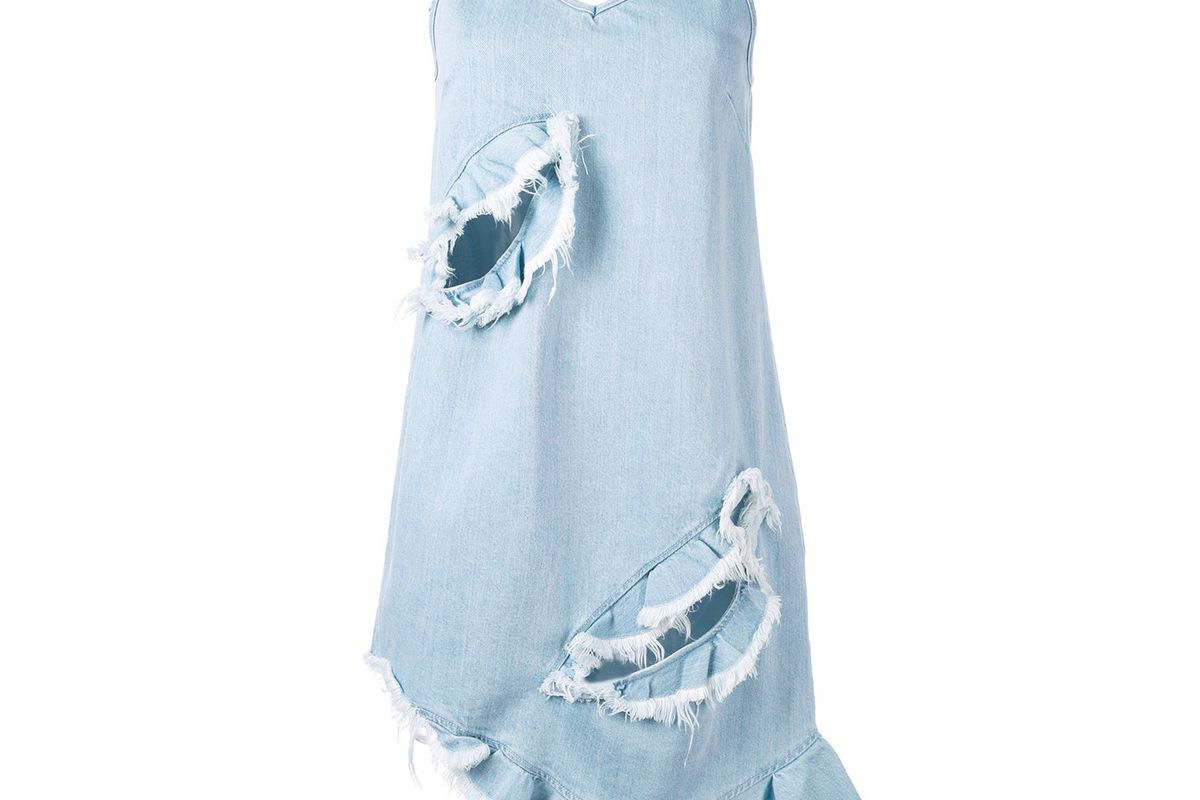 Denim Asymmetric Dress