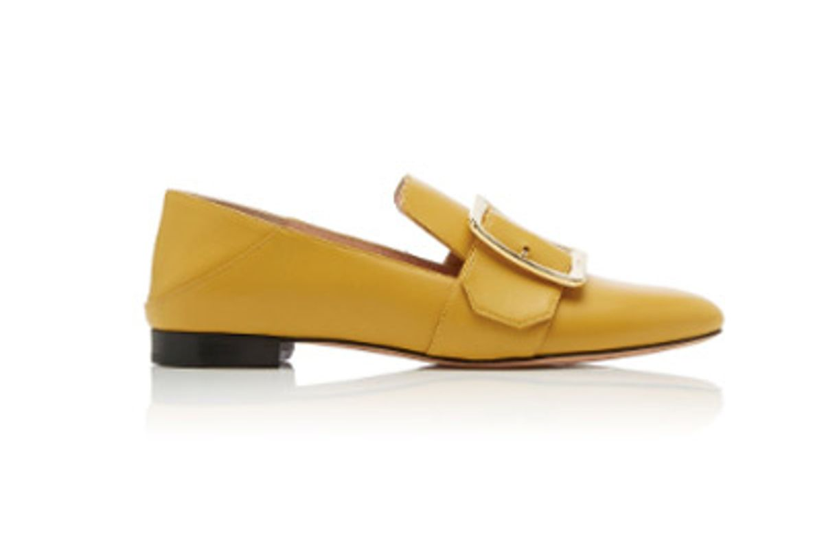 janelle buckled leather loafers